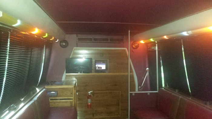 Chilltime Productions Party Bus front view